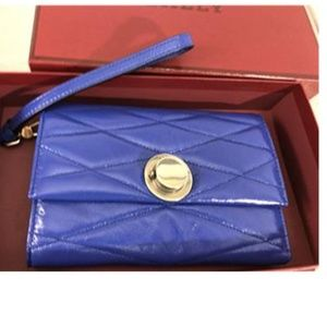 Bally Womens Eclipse Blue leather wallet NWT
